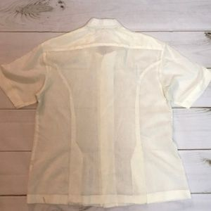 Vintage Shirts - Vtg Men's Mexican Wedding Shirt Short Sleeve